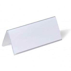 DURABLE Tischnamensschild 8050 61x150mm Dachform transparent