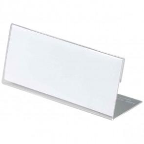 DURABLE Tischnamensschild 8054 transparent  61x150mm Acryl in L-Form 10 Stück