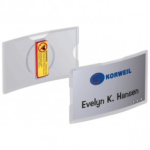 DURABLE Namensschild 8123 40x75mm Acryl mit Magnet