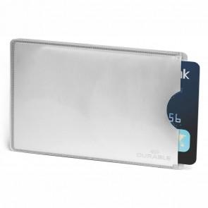 DURABLE Kartenschutzhülle 8900 mit RFID Schutz 54x86mm silber