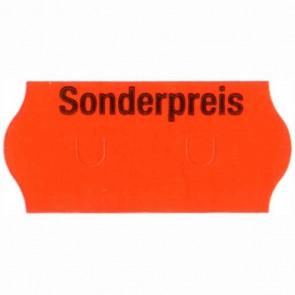 36 Rollen Preisetiketten 26x12mm leuchtrot Sonderpreis 1500 Etiketten permanent