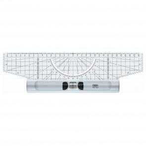 M+R Roll-Lineal 30cm Plexiglas mit Winkel und Lupe