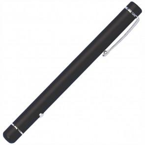 WEDO Laserpointer Metall schwarz mit Clip, Laser rot, 2x AAA Batterie