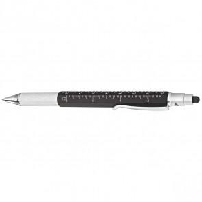 WEDO Touchpen Multi-Tool schwarz / silber sortiert mit cm-Aufdruck