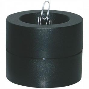 WEDO Klammernspender schwarz rund mit Klammern