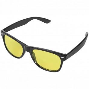 WEDO Nachtsichtbrille schwarz Polarized gelb getönt incl. Brillenhülle