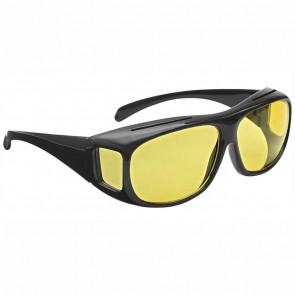 WEDO Überzieh-Nachtsicht schwarz Polarized gelb getönt incl. Brillenhülle