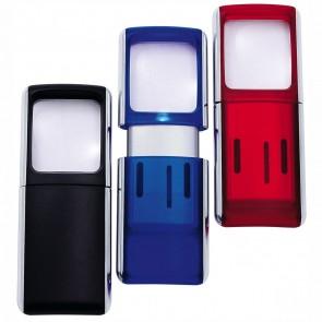 WEDO Lupe eckig LED-beleuchtet incl. Batterien