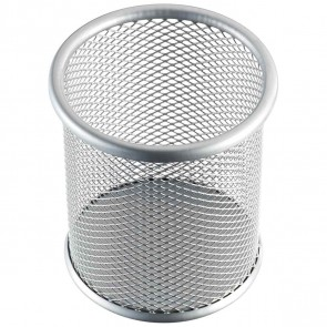 HELIT Stifteköcher Mesh Metall H2518100 silber