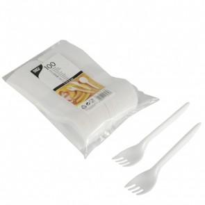 PAPSTAR Plastik Gabel 17,5cm weiß 100 Stück