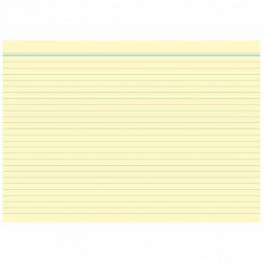 RNK Karteikarten A8 liniert gelb 100 Stück