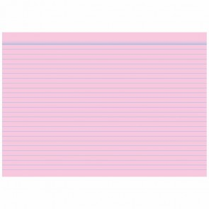 RNK Karteikarten A8 liniert rosa 100 Stück