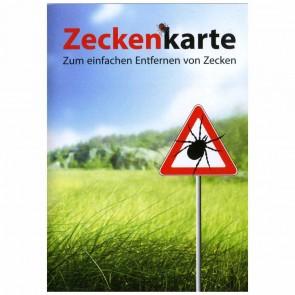 RNK Zeckenkarte Zeckenzange Zeckenentferner im Scheckkartenformat mit Lupe
