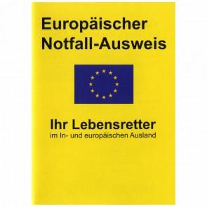 RNK Europäischer Notfall Ausweis DIN A7 12-seitig