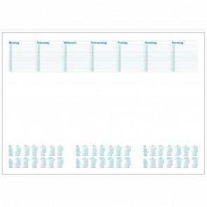 RNK Schreibunterlage A2 60x42cm Office Blanko mit Kalender 2020 2021 2022