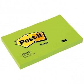 POST-IT Haftnotiz 655-NG 76x127mm 100 Blatt neongrün