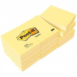POST-IT Haftnotiz Notes 653E 51x38mm gelb 12 St./Pack.