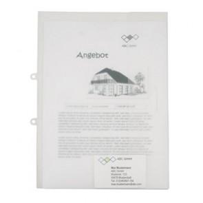 Angebotsmappe A4 transparent PP bis 40 Blatt zum Abheften