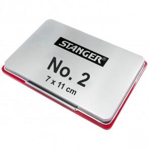 STANGER Stempelkissen No. 2 Metall 7x11cm rot
