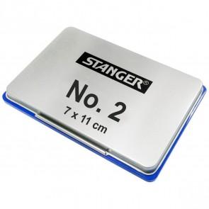 STANGER Stempelkissen No. 2 Metall 7x11cm blau