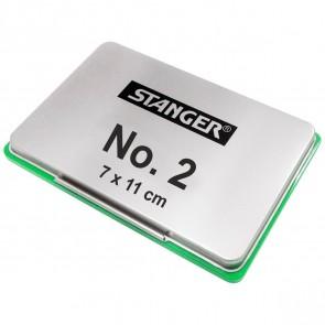 STANGER Stempelkissen No. 2 Metall 7x11cm grün