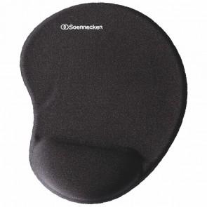 SOENNECKEN Mauspad 3784 Memory Foam mit Handgelenkauflage schwarz