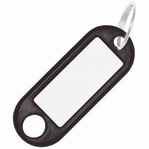ALCO Schlüsselanhänger mit Ring 18mm schwarz 10 Stück