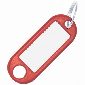 ALCO Schlüsselanhänger mit Ring 18mm rot 10 Stück