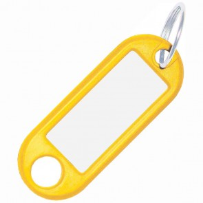 ALCO Schlüsselanhänger mit Ring 18mm gelb 10 Stück