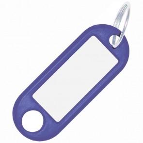 ALCO Schlüsselanhänger mit Ring 18mm blau 10 Stück