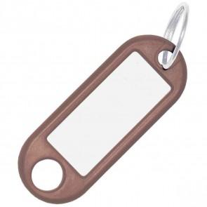 ALCO Schlüsselanhänger mit Ring 18mm braun 10 Stück