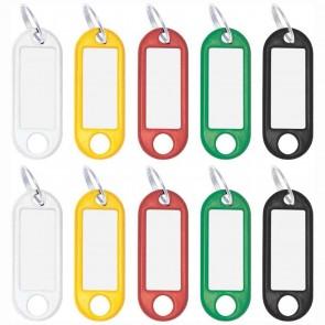ALCO Schlüsselanhänger mit Ring 18mm farbig sortiert 10 Stück