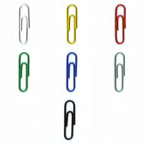 ALCO Briefklammer 256-15 26mm farbig sortiert 100 Stück kunststoffüberzogen