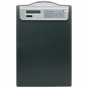 ALCO Klemmbrett DIN A4 mit Solarrechner 5518 schwarz Kunststoff