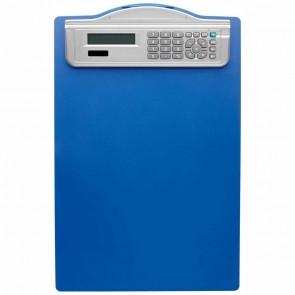 ALCO Klemmbrett DIN A4 mit Solarrechner 5518 blau Kunststoff