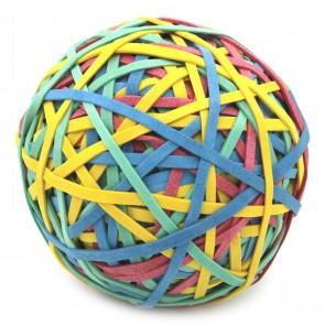 ALCO Gummiring Ball 70mm ca.190g / 320 Stück farbig sortiert