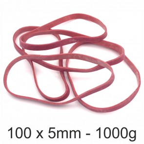 ALCO Gummibänder 759 100 x 5mm 1000g rot
