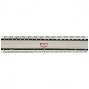 M+R Lineal 1820 20cm Aluminium Skalierung weiß unterlegt