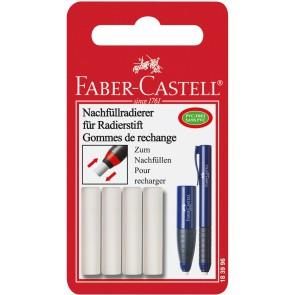 FABER CASTELL Ersatzradierer für Radierstift 184401 und Poly Matic 4 Stück
