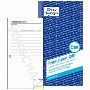 AVERY Tagesrapport 1301 105x200mm 2 x 50 Blatt mit Blaupapier