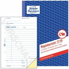 AVERY Regiebericht 1775 A5 2 x 40 Blatt selbstdurchschreibend