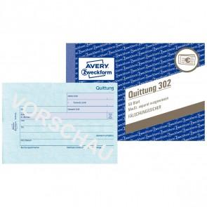 AVERY Quittung 302 A6 mit MwSt 50 Blatt