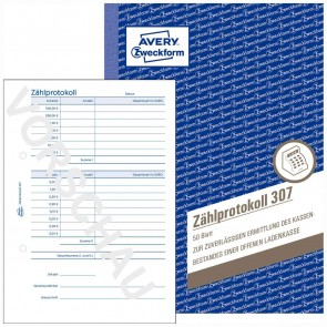 AVERY Zählprotokoll 307 A5 50 Blatt
