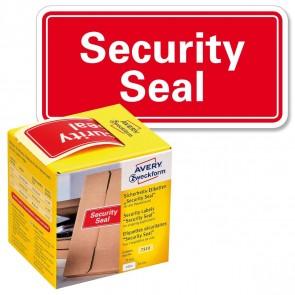 AVERY Sicherheitsetiketten 7310 78x38mm neonrot Security Seal 200 Stück