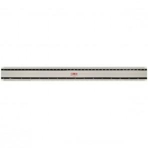 M+R Lineal 1840 40cm Aluminium Skalierung weiß unterlegt