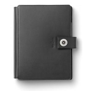 FABER CASTELL Agenda Personal Planer schwarz echt Leder A6