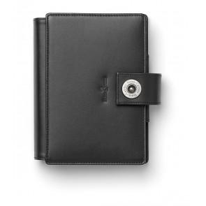 FABER CASTELL Agenda Pocket Planer schwarz echt Leder A7