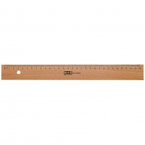M+R Holzlineal 30cm Buche mit Stahleinlage