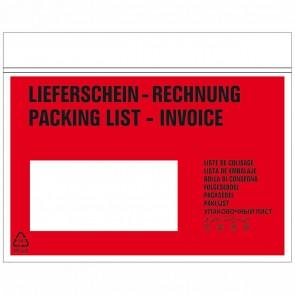 DEBATIN Begleitpapiertaschen UNIPACK C6 mit Druck Lieferschein/Rechnung 250 Stück