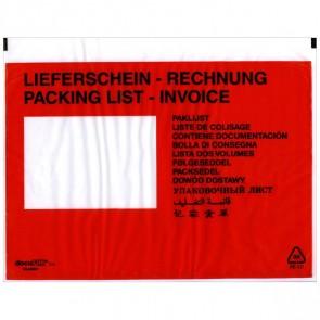 DEBATIN Begleitpapiertaschen UNIPACK C5 Lieferschein/Rechnung 250 Stück